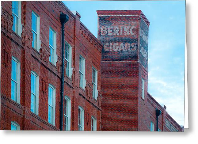 Cigar Factory Greeting Cards - Bering Cigars Greeting Card by Ybor Photography