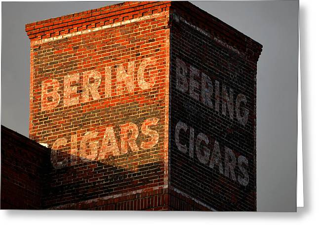 Cigar Factory Greeting Cards - Bering Cigar Factory one Greeting Card by David Lee Thompson