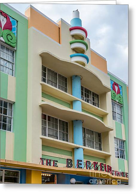 1930s Greeting Cards - Berkeley Shores Hotel - South Beach - Miami - Florida Greeting Card by Ian Monk