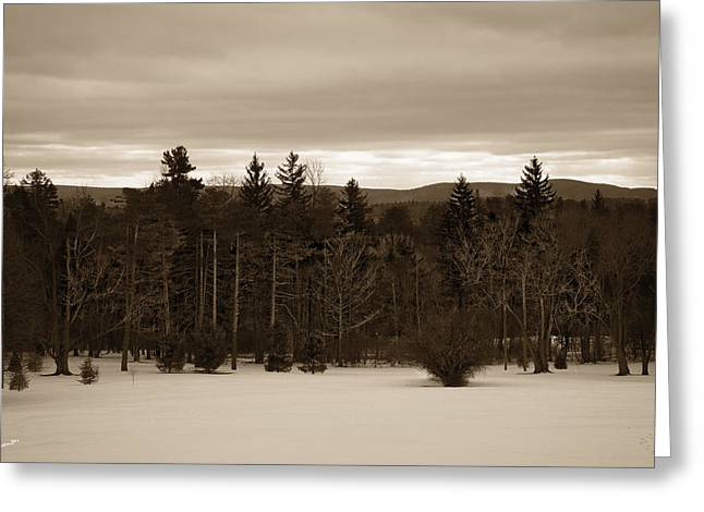 Wintry Photographs Greeting Cards - Berkshires Winter 1 - Massachusetts Greeting Card by Madeline Ellis