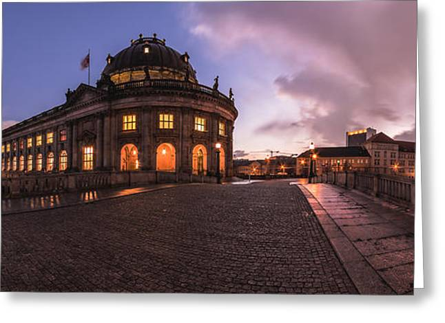 Berlin Germany Pyrography Greeting Cards - Berlin - Bodemuseum Panorama Greeting Card by Jean Claude Castor