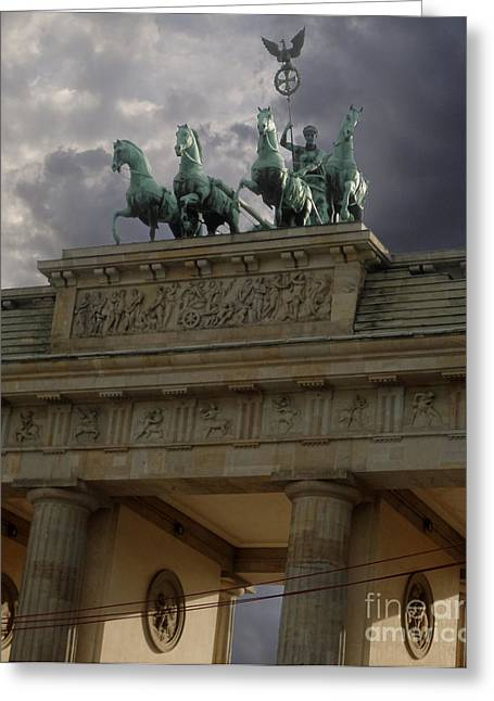Berlin - Brandenburg Gate Greeting Card by Gregory Dyer