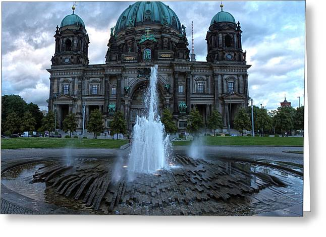 Berlin - Cathedral Greeting Card by Gregory Dyer
