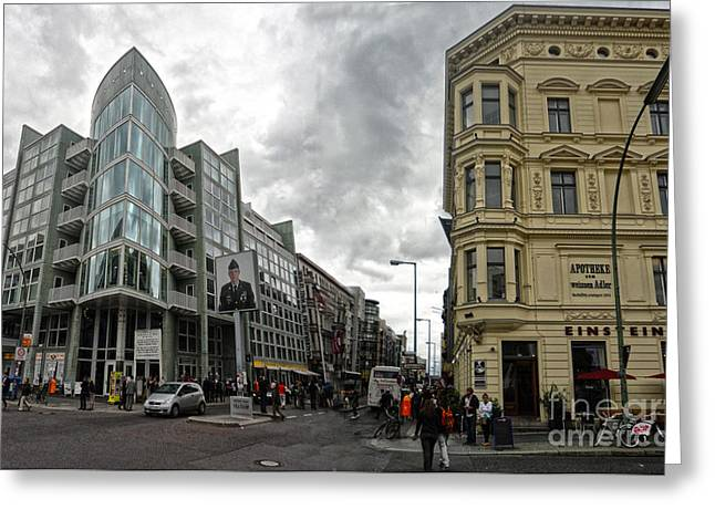 Berlin - Checkpoint Charlie Greeting Card by Gregory Dyer