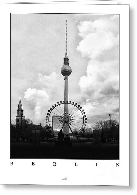 Berlin Germany Pyrography Greeting Cards - Berlin - Television Tower Greeting Card by ARTSHOT  - Photographic Art