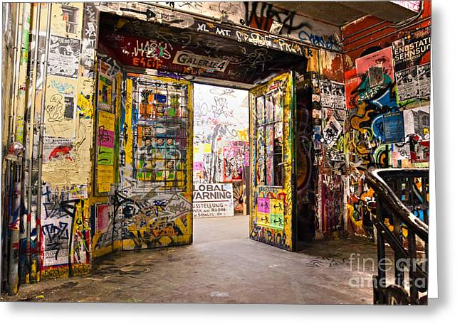 Recently Sold -  - Illuminate Greeting Cards - BERLIN - The Kunsthaus Tacheles Greeting Card by Luciano Mortula