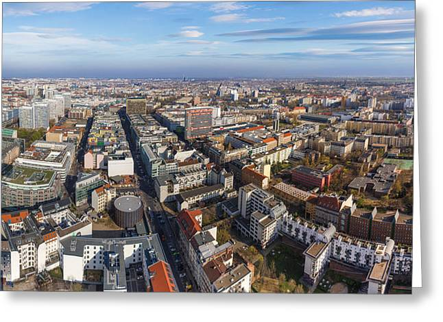 Berliner Greeting Cards - Berlin Aerial Panorama Greeting Card by Semmick Photo
