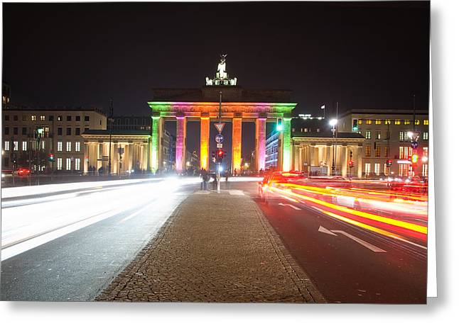 Tor Pyrography Greeting Cards - Berlin at Night Greeting Card by Steffen Gierok