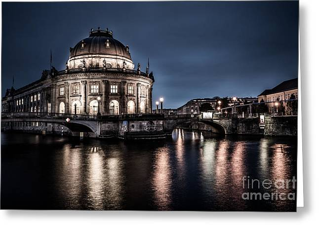 Longtime Exposure Greeting Cards - Berlin - Bode-Museum Greeting Card by Hannes Cmarits