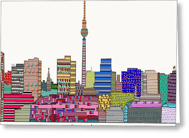 Art Of Building Greeting Cards - Berlin Greeting Card by Bri Buckley