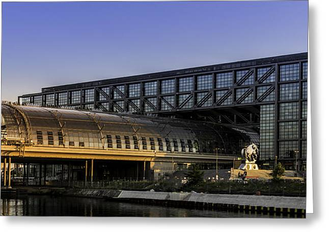 Berlin Germany Pyrography Greeting Cards - Berlin central station Greeting Card by Timo Peter Gronlund