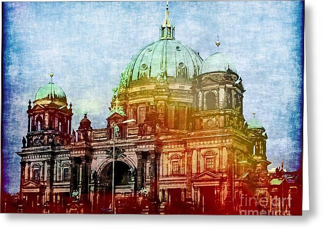 Berlin Germany Greeting Cards - Berlin Dome Greeting Card by Lutz Baar