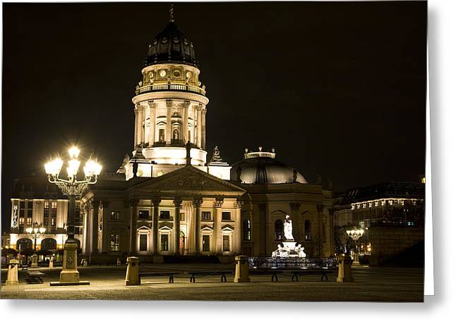 Iconic Places Greeting Cards - Berlin Gendarmenmarkt Greeting Card by Frank Tschakert