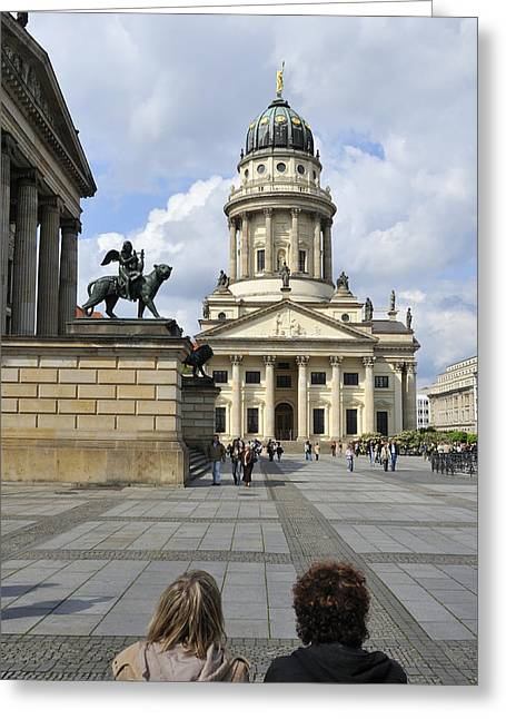 Berlin Cathedral Greeting Cards - Berlin Gendarmenmarkt square Greeting Card by Matthias Hauser