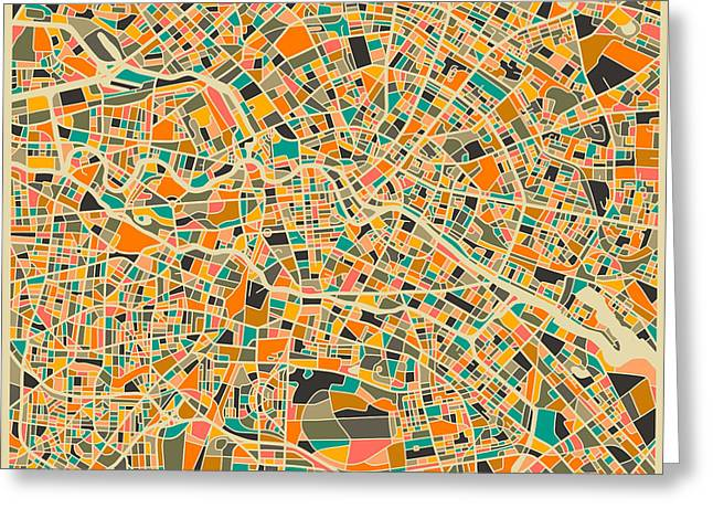 Berlin Art Greeting Cards - Berlin Greeting Card by Jazzberry Blue