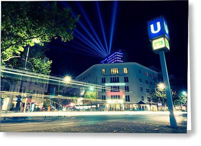 Kudamm Photographs Greeting Cards - Berlin Kurfurstendamm Greeting Card by Alexander Voss