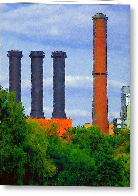 Himmel Digital Greeting Cards - Berlin Plant -- Fabrik in Berlin Greeting Card by Arthur V Kuhrmeier