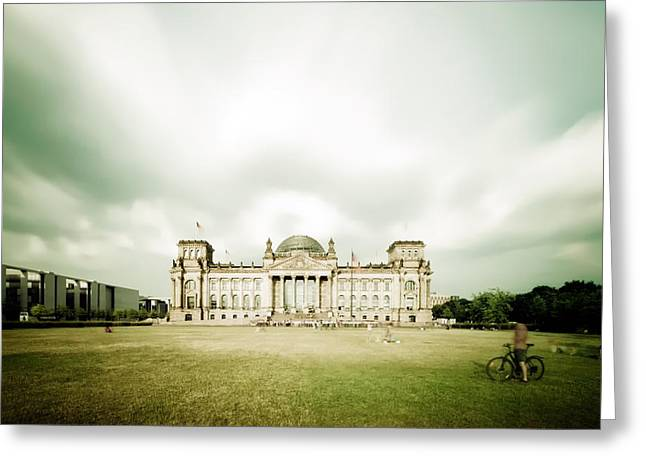 Berlin Reichstag Building Greeting Card by Alexander Voss