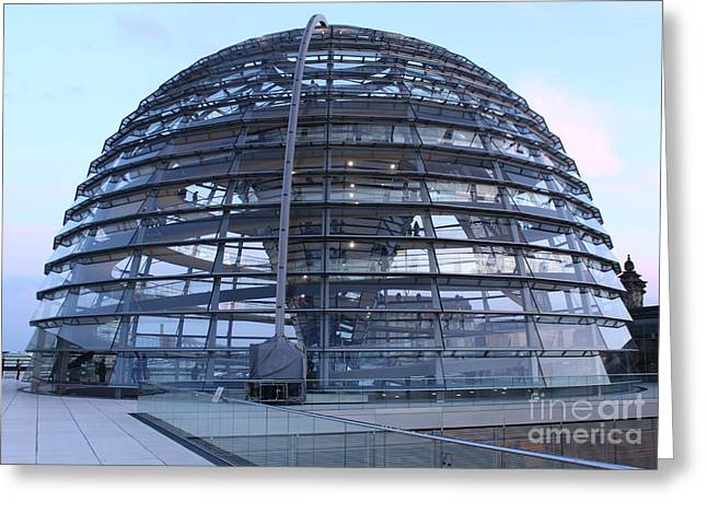 Berlin - Reichstag Roof - No.02 Greeting Card by Gregory Dyer
