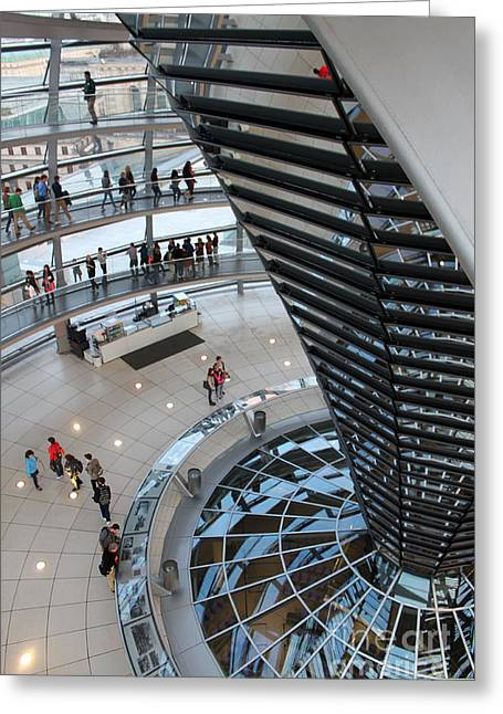 Berlin - Reichstag Roof - No.06 Greeting Card by Gregory Dyer