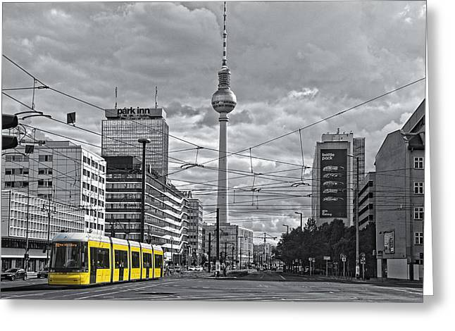 Berlin Streetview Greeting Card by Joachim G Pinkawa