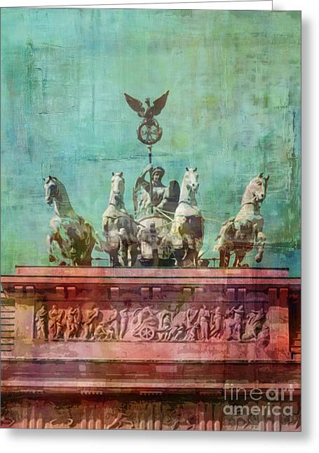 Berlin Mixed Media Greeting Cards - Berlin Vintage Greeting Card by Lutz Baar