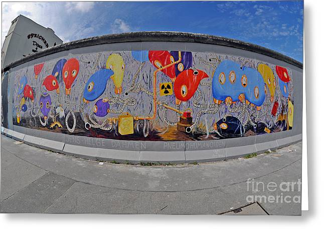 West Berlin Greeting Cards - Berlin Wall Art Greeting Card by Ingo Schulz