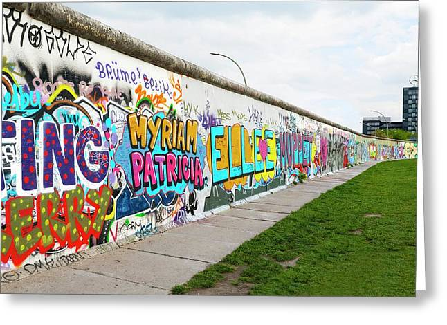 Berlin Wall Greeting Card by Ton Kinsbergen
