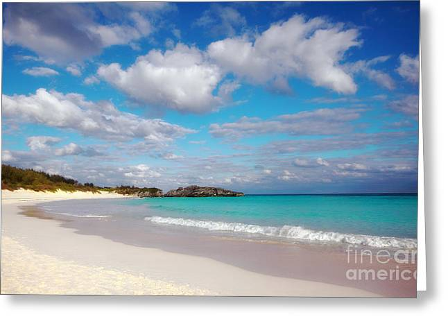 Beach Landscape Greeting Cards - Bermuda Beach Greeting Card by Charline Xia