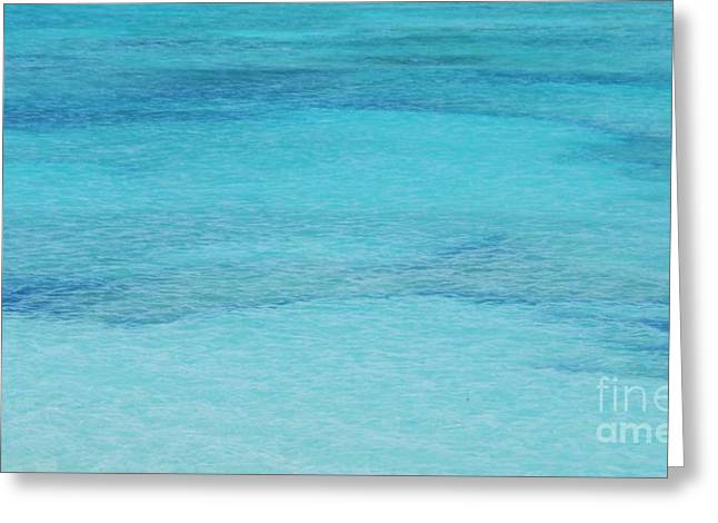 Beneath The Surface Greeting Cards - Bermuda Blue 1 Greeting Card by Marcus Dagan