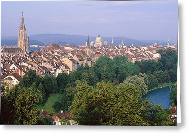 Overcast Day Greeting Cards - Bern, Switzerland Greeting Card by Panoramic Images