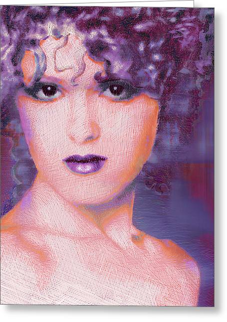 1980s Mixed Media Greeting Cards - Bernadette Peters Pop Greeting Card by Tony Rubino
