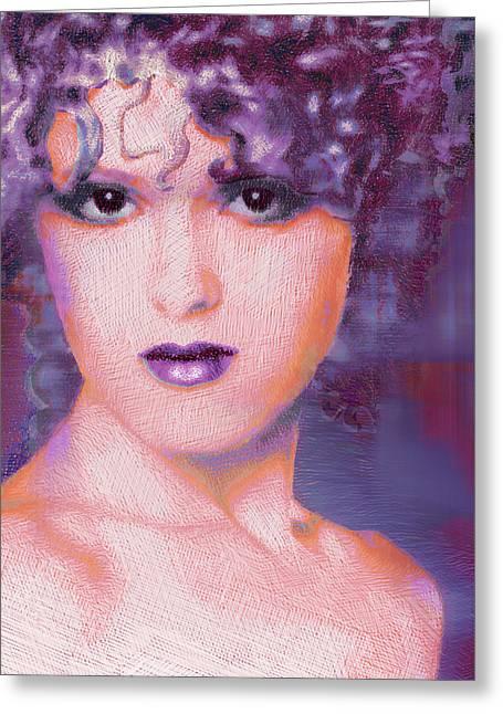 Musical Film Mixed Media Greeting Cards - Bernadette Peters Pop Greeting Card by Tony Rubino
