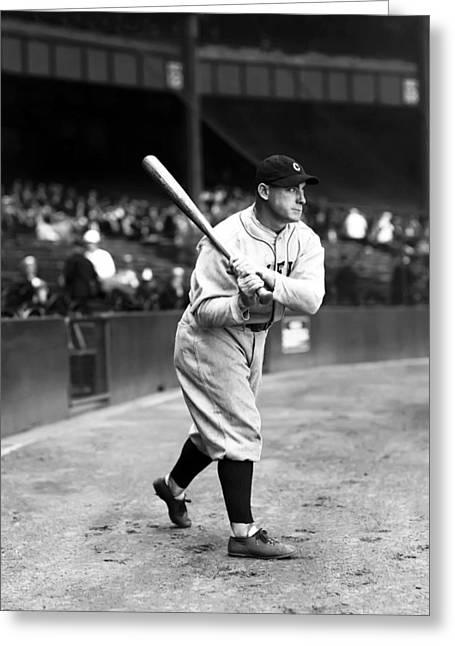Baseball Bat Greeting Cards - Bernard E. Bernie Neis Greeting Card by Retro Images Archive