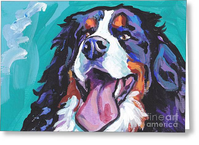Lea Greeting Cards - Berner All Smiles Greeting Card by Lea