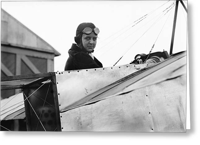 Ewing Greeting Cards - Bernetta Miller, US aviator Greeting Card by Science Photo Library