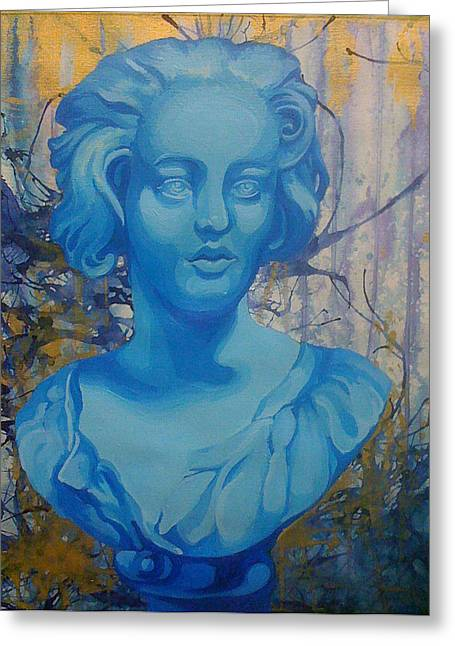 Classical Gold Mixed Media Greeting Cards - Berninis Bust of a Woman Greeting Card by Sierra Dickey