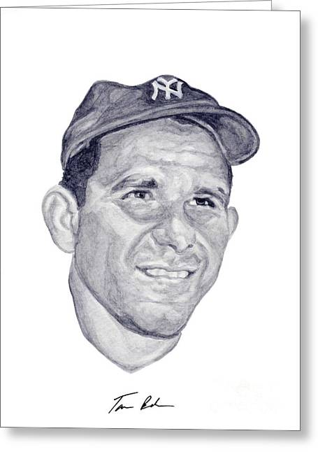 Yogi Berra Greeting Cards - Berra Greeting Card by Tamir Barkan