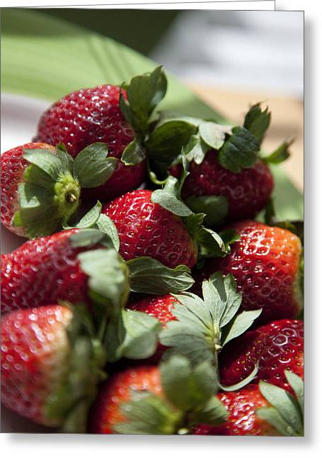 Farm Stand Greeting Cards - Berries in the Kitchen Greeting Card by Greg Kopriva