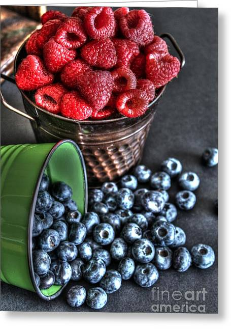 Canned Fruit Greeting Cards - Berries Greeting Card by Jimmy Ostgard