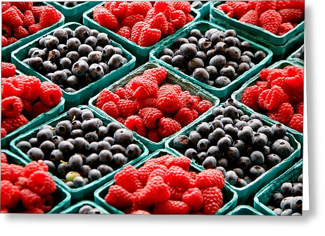 Berry Photographs Greeting Cards - Berry Berry Nice Greeting Card by Peter Tellone
