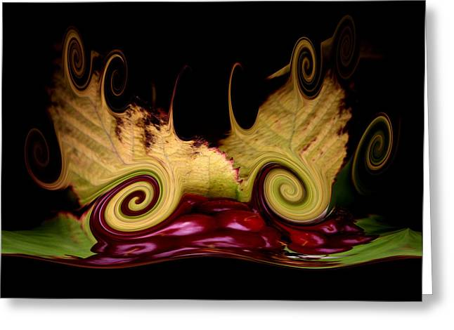 Twisted Sister Greeting Cards - Berry Curly Greeting Card by Karen M Scovill