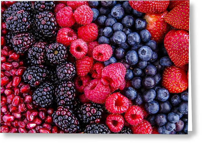 Berry Delicious Greeting Card by Teri Virbickis