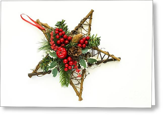 Special Occasion Greeting Cards - Berry Star Greeting Card by Anne Gilbert