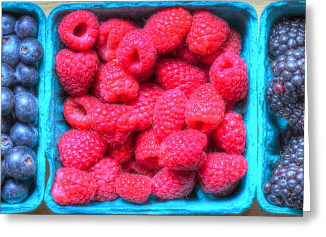 Organic Greeting Cards - Berry Trio Greeting Card by Heidi Smith
