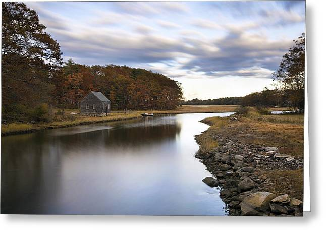 Berrys Brook Greeting Card by Eric Gendron