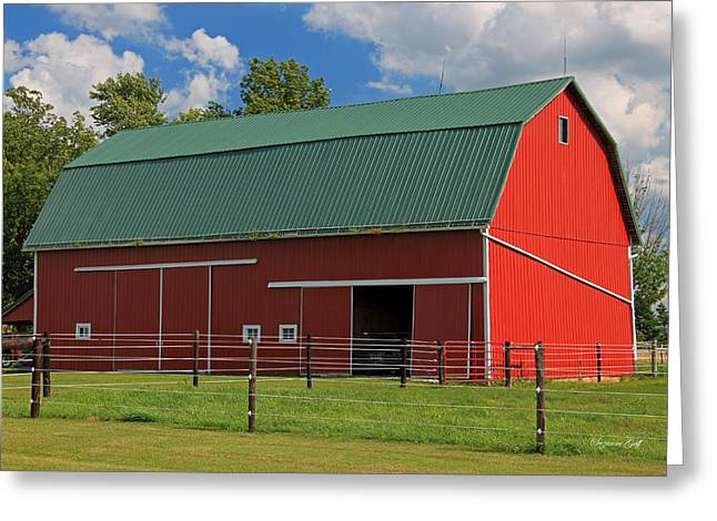 Indiana Scenes Greeting Cards - Bertch Barn - Monroe Indiana - Adams County Greeting Card by Suzanne Gaff