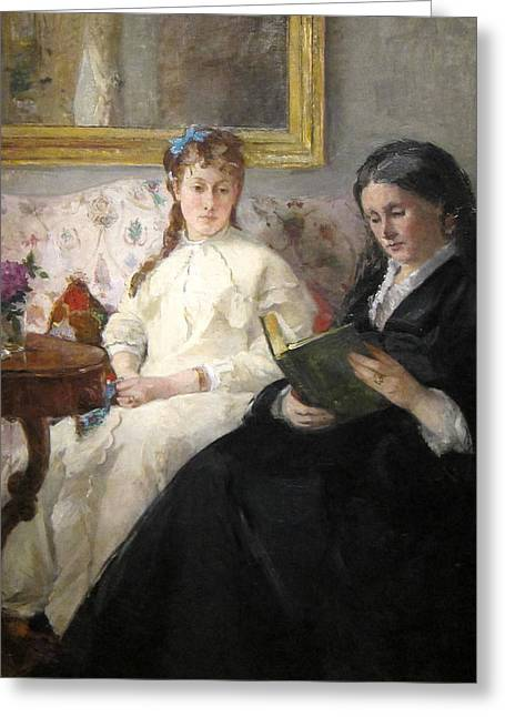 Edma Morisot Greeting Cards - The Mother and Sister of the Artist Greeting Card by Berthe Morisot