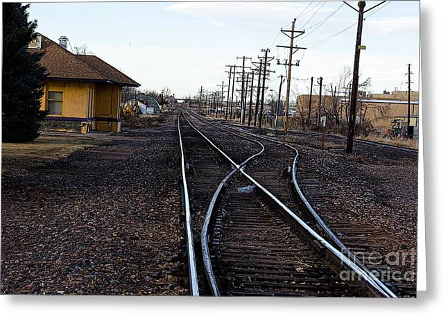 Berthoud Greeting Cards - Berthoud R R Station Greeting Card by Jon Burch Photography