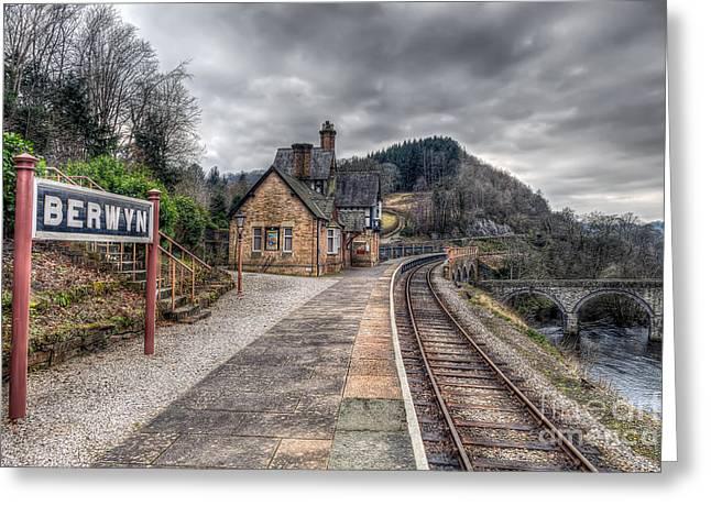 Victorian Greeting Cards - Berwyn Railway Station Greeting Card by Adrian Evans